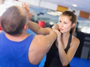 Pic of Woman doing Self Defense